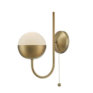 Andre Aged Brass Wall Lamp