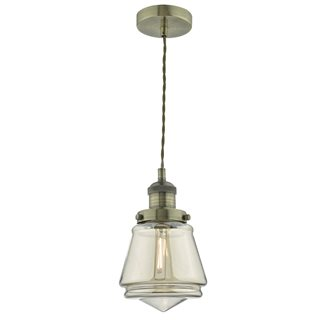 Curtis Antique Brass and Champagne Light Pendant