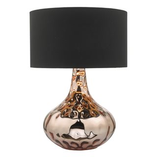 Olton Copper Table Lamp (With Shade)