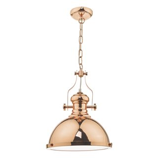 Arona Copper & Glass Pendant