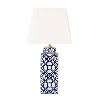 Mystic Blue and White Table Lamp (Base Only)