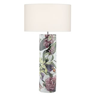 Elana Ceramic Tropical Print Table Lamp (Base Only)