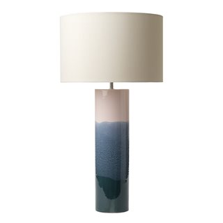 Ignatio Pink, Blue and Green Ceramic Table Lamp (Base Only)