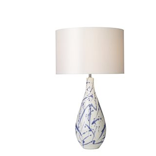 Olka Ceramic & Blue Table Lamp (Base Only)