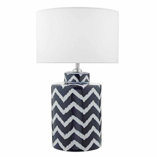 Caelan Blue and White Table Lamp (Base Only)