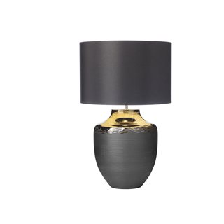 Asya Ceramic & Black Table Lamp (Base Only)