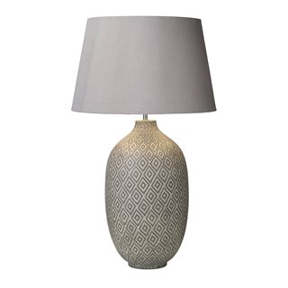 Ceyda Ceramic & Grey Table Lamp (Base Only)