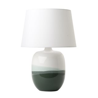 Lautaro Green and White Table Lamp (Base Only)