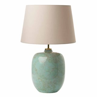 Elgar Turquoise, Grey and Gold Table Lamp (Base Only)