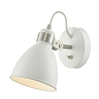 Frederick White and Satin Chrome Wall Light