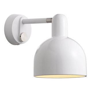 Trooper White Wall Light