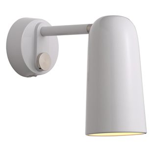 Tippy White Wall Light