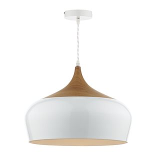 Gaucho Gloss White Large Ceiling Pendant