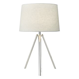 Griffith Polished Chrome Table Lamp (with Shade)