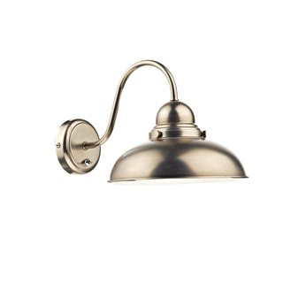 Dynamo Antique Chrome Wall Light