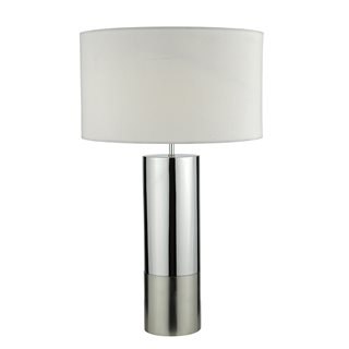 Ingleby Table Lamp Mixed Chrome (with Shade)