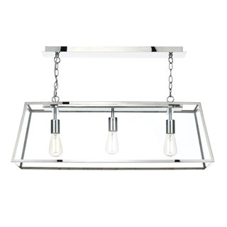 Academy Stainless Steel Glass 3 Light Pendant
