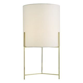 Michaela Satin Gold Table Lamp (with Shade)