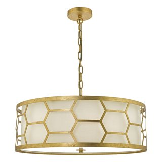 Epstein 4 Light Gold Pendant (with Shade)