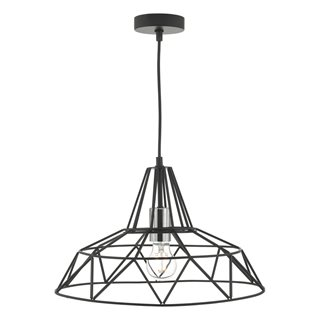 Hitika Black & Polished Chrome Pendant