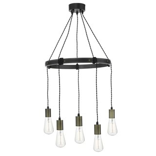 Ivan 5 Light Rustic Light Pendant