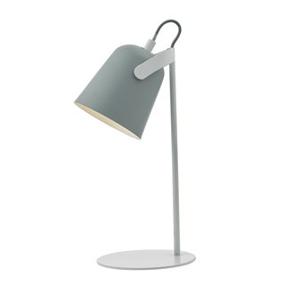 Effie Soft Matt Grey and White Table Lamp