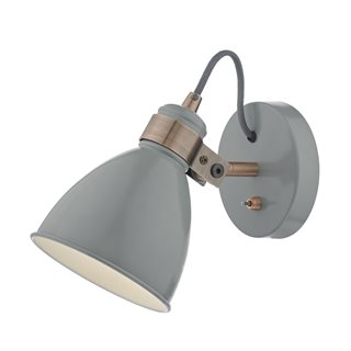 Frederick Gloss Grey and Copper Wall Lamp