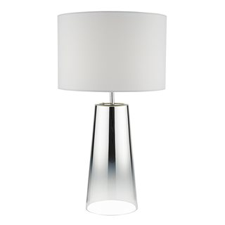 Smokey Polished Chrome Table Lamp (with Shade)