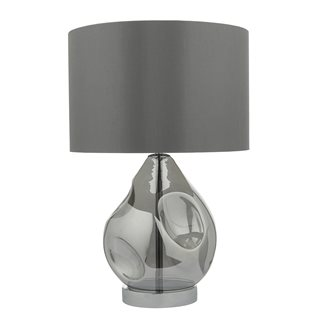 Quinn Smoked Glass Table Lamp (with Shade)