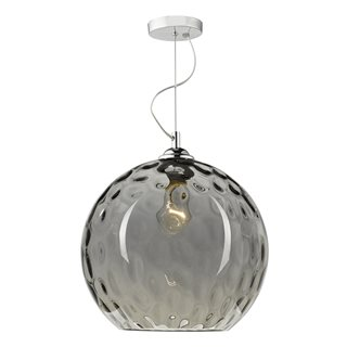 Aulax Light Pendant Smoked Dimple Effect