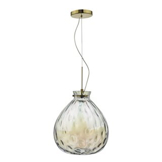 Azia French Gold & Glass LED Pendant