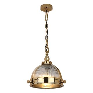 Ryker Gold with Clear Glass Light Pendant