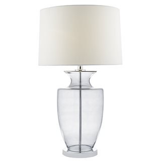 Honor Smoked Glass Table Lamp (with Shade)