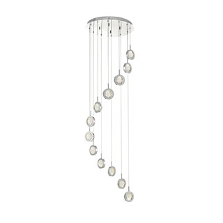 Livia Polished Chrome 12 Light LED Cluster Pendant