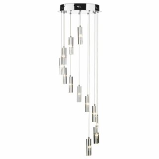 Galileo Polished Chrome LED 12 Light Stair Cluster