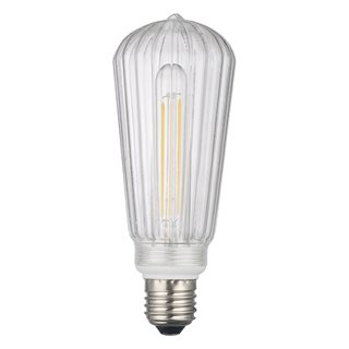 Clear Ribbed Rustic LED Dimmable Pendant Kit