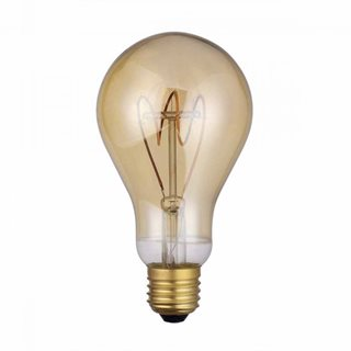 där Lighting 4W LED Vintage Dimmable Large GLS Bulb (Warm White/ES Fitting)