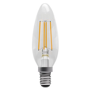 Bell 4W LED Clear Filament Candle (Warm White/SES Fitting)