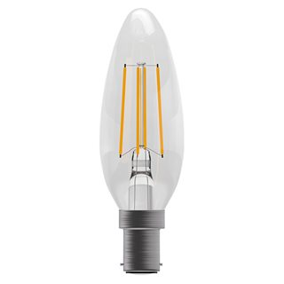 Bell 4W LED Clear Filament Candle (Warm White/SBC Fitting)