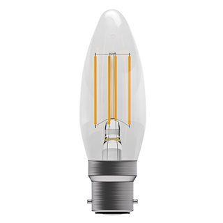 Bell 4W LED Clear Filament Candle (Warm White/BC Fitting)